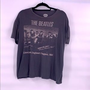 Vintage the Beatles gray t shirt size large